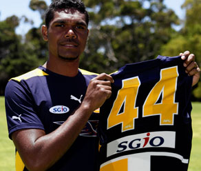 Young Eagle Gerrick Weedon will continue the indigenous tradition of Wirrpanda's 44